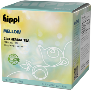 Mellow Caffeine Free CBD Tea 14Ct Box